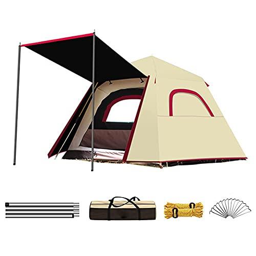 Carpas emergentes para acampar de 3 a 4 personas de doble capa automática instantánea tienda de campaña portátil de playa para senderismo al aire libre (color blanco, tamaño: 3)