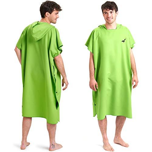 Fit-Flip Poncho Surf, Accappatoio Asciutto, Poncho ad Asciugamano in Microfibra Anche Come Asciugamano per cambiarsi in Spiaggia Taglia: M Colore: Verde