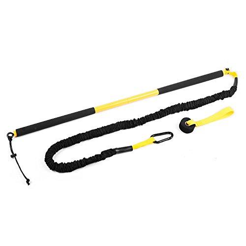 Capital Sports Riprider Rip Trainer Schlingentrainer (9kg Zugkraft, inkl. Karabiner & Türhaken, Transportbeutel) schwarz-gelb