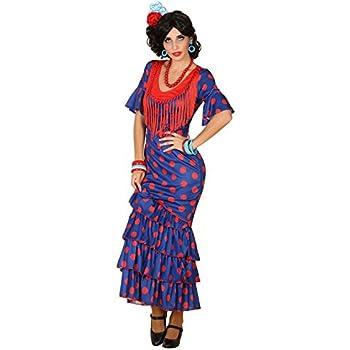 Atosa-38604 Disfraz Flamenca, Color Azul, M-L (38604): Amazon.es ...