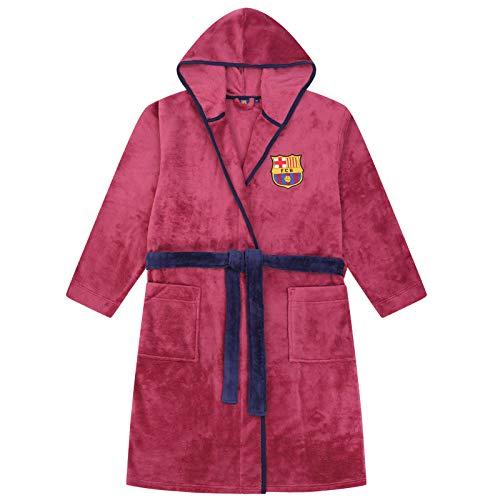 FCB FC Barcelona - Batín con Forro Polar y Capucha para Hombre - Producto Oficial - Mediana