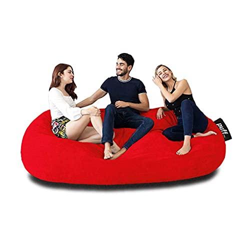 Sofá con cama Tamaño King size color rojo hasta para tres personas ideal para adolecentes y adultos con relleno de hule espuma muy cómodo para pasar grandes momentos de descanso, acabado en gamuza suave, resistente sillón perfecto interiores.