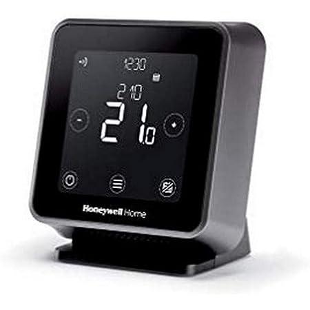 Honeywell Home T6R Termostato inteligente inalámbrico con WiFi y aplicación móvil, ahorra energía y dinero, compatible con Apple HomeKit, Google Home, Amazon Alexa e IFTTT, negro (1 pieza)