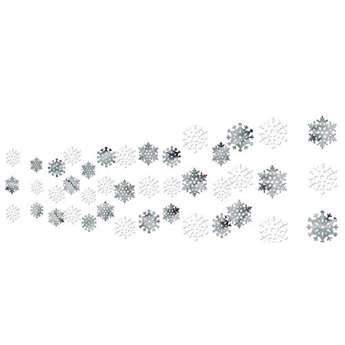Amscan, decorazione per soffitto a forma di fiocco di neve, 3,65 m x 30,5 cm, 1 pezzo