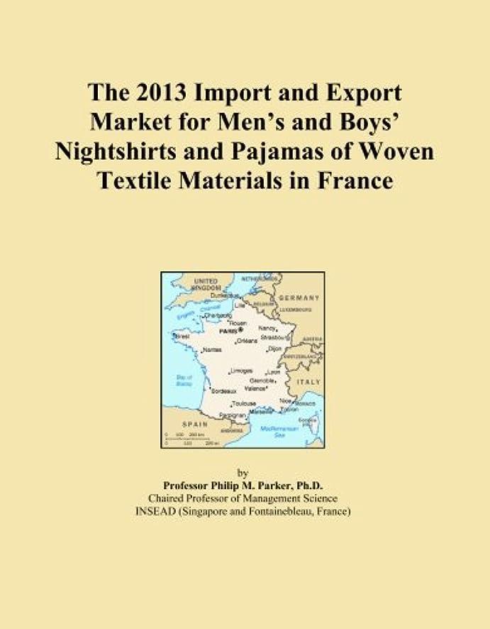 見落とすクック手のひらThe 2013 Import and Export Market for Men's and Boys' Nightshirts and Pajamas of Woven Textile Materials in France