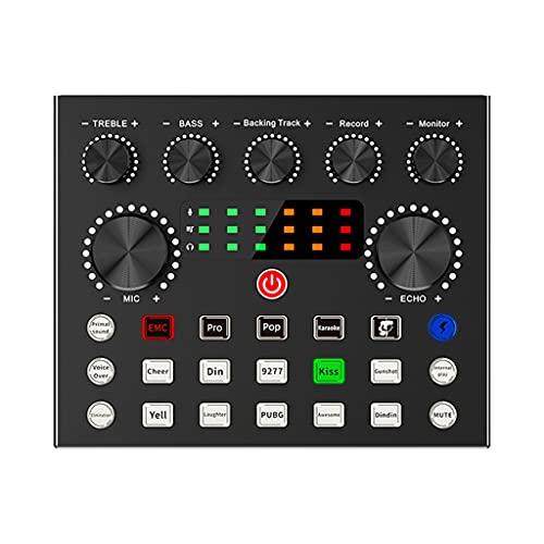ShiftX4 Tarjeta de sonido externa Gaming Living Singing Audio Interface Grabación para Live Broadcast Audio Mixer Red Mixing