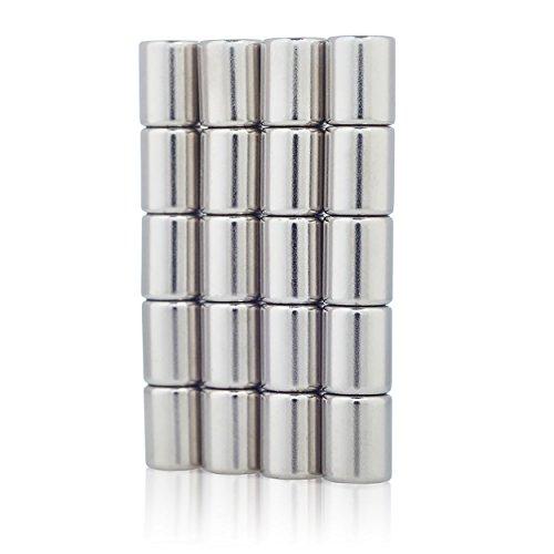 Lumaland Mini Magnete praktisch super starker Halt neodym Magnete ultra stark für Whiteboard Magnettafel und Kühlschrank 20 Stück, Ø 8 x 10 mm