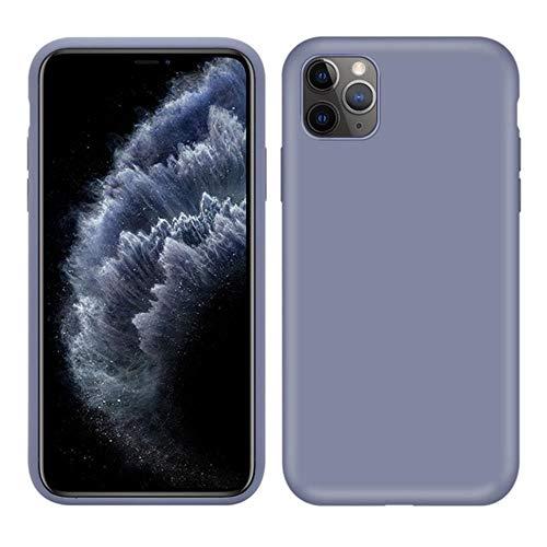 Carcasa de silicona líquida original para Apple iPhone 11 Pro Max 7 8 6 6S Plus XR X XS MAX 5 5S SE 11 carcasa a prueba de golpes, color gris, para iPhone 6 Plus