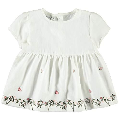 NAME IT Mädchen Bluse mit Blumenstickerei in weiß 110/5 Jahre
