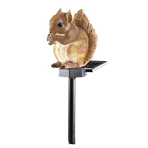 Collections Etc Outdoor Decorations, Squirrel, Lighted Solar Garden Stake