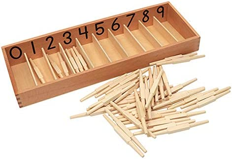 Cheers Education Montessori Math Material: Spindle Max Cheap sale 51% OFF 0-9 Set Box