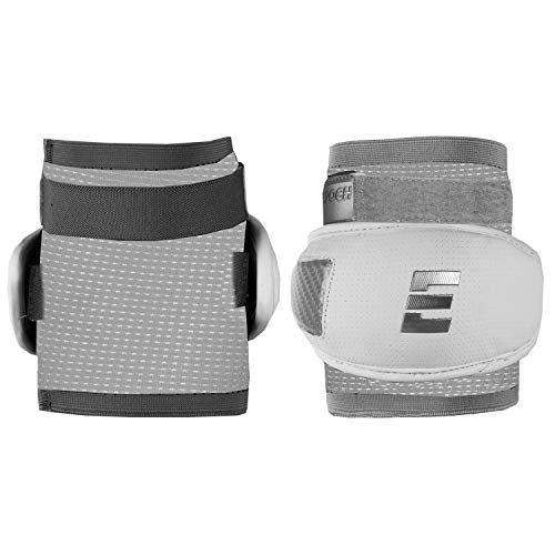 Epoch Integra Elite Lacrosse Defensive Elbow Caps with Form-Fitting Compression Sleeve, Hardshell, X-Large, White