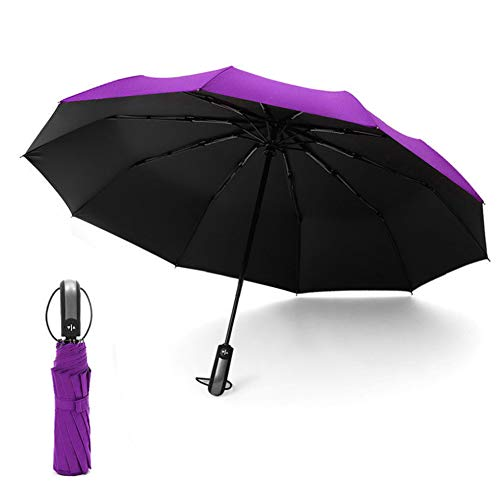 HYCOPROT Umbrella Strong Windproof Umbrellas for Women Men Repel Automatic...