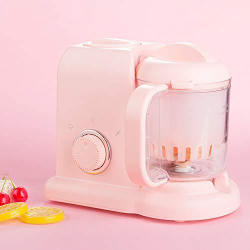 Cpippo Babynahrungszubereiter,Intelligente Stromzufuhr Baby Küchenmaschine Multifunktional,Tragbar,9.5L,20cm×23cm(Pink)