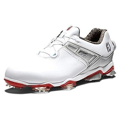 FootJoy Men's Tour X Boa Golf Shoes, White/Grey/Red, 10.5 M US