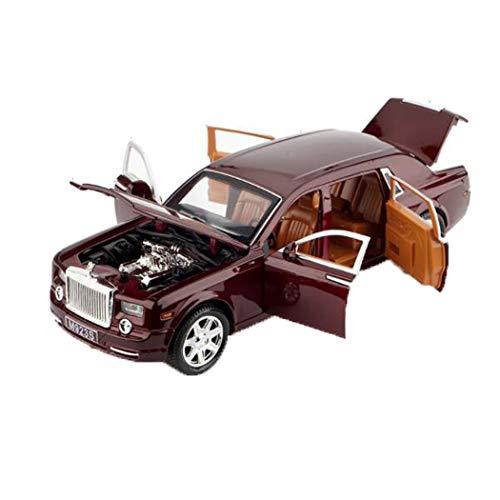 MALPYQB Bildungs-Spielzeug, ferngesteuertes Auto Spielzeug, Modellautos Rolls-Royce Phantom Kinderspielzeugauto 1:24 Modellsimulation Legierung Junge 20.5X7X5.5Cm Modellautos,Rot