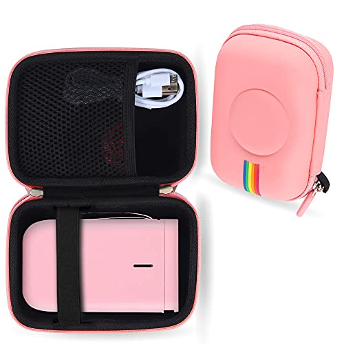 Leayjeen Label Maker Machine Case Compatible with NiiMbot D11 2021 Portable Label Printer for Phone Pad Easy to Use Office Home Organization(Case Only) (Pink)
