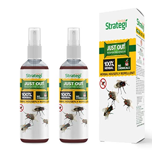 Herbal Strategi Housefly Repellent - 100ml (Pack of 2)