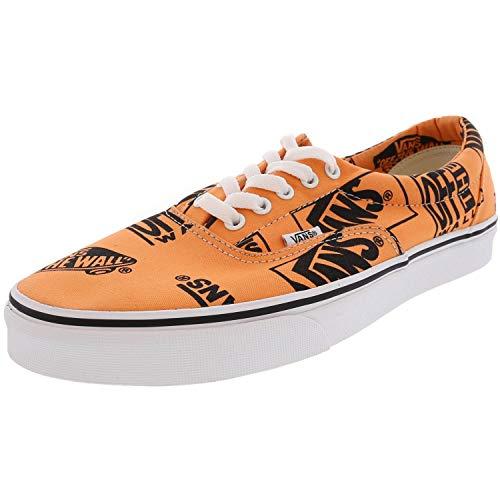 Vans Era Logo Mix Tangerine/Black Men's Classic Skate Shoes Size 11