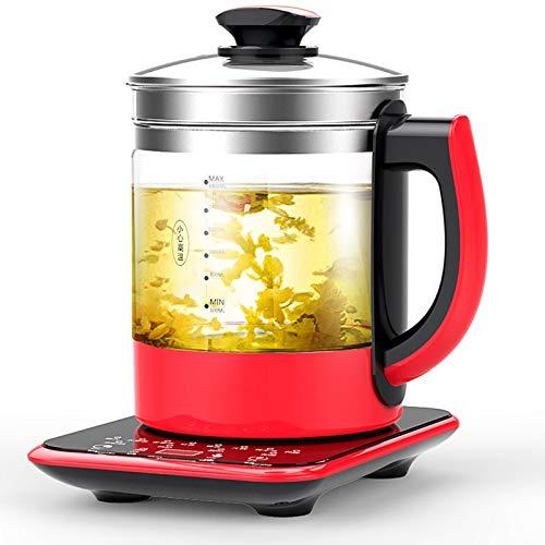 Teekocher elektrisch Glas Gesundheitstopf Wasserkocher Automatische Multifunktions-Teemaschine aus dickem Glas für den Bürotopf mit einstellbarer Temperatur