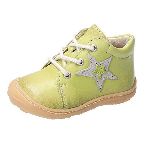 RICOSTA Kinder Stiefel Romy von Pepino, Weite: Mittel (WMS), toben Spielen verspielt detailreich Freizeit Boots Leder Kids,Lime,23 EU / 6 Child UK