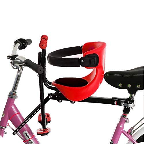 zanasta Seggiolino bici per bambini per montaggio anteriore fino a 30 kg di posizione del sedile regolabile poggiapiedi