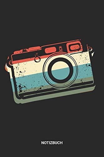 Notizbuch: A5 Notizheft mit punktierten Linien für Kamera Freunde? Ideales Retro Vintage Fotoapparat Journal oder Notizbuch. Perfektes Tagebuch als ... Foto Fans. Geschenkidee für Männer & Frauen