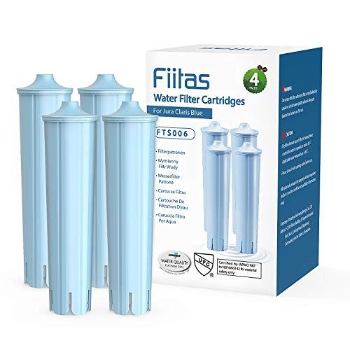 Fiitas Wasserfilter für Jura Claris Blue, Filter für Jura Automatic Espresso Kaffeemaschine, kompatibel mit ENA IMPRESSA Serie (4er Pack)