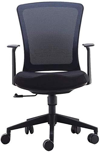 Silla de Oficina Giratoria Sillón reclinable escritorio de oficina, ajustable respaldo alto ergonómico ordenador malla reclinable, sillas de oficina en casa con soporte lumbar, presidente de la confer