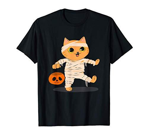 Halloween Gato Calabaza Disfraz Miedo Hombres Mujeres Regalo Camiseta
