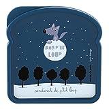 Derrière La Porte - DLP: Mon Petit Loup, Scatola a forma di toast per bambini e ragazzi, decoro di Valérie Nylin