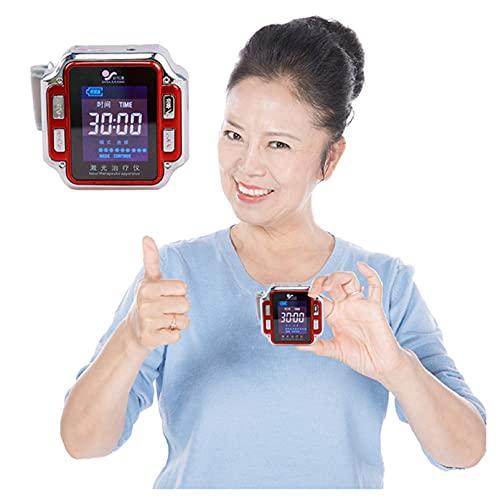 AXQQ Laser-Therapie-Armbanduhr, Halbleiter-Laserbehandlung Instrumententuffy Nase Reduzieren Sie Hypertonie Hyperglykämie Hyperlipidämie Therapiegeräte
