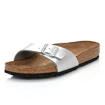 Birkenstock Women s Madrid Birko-Flor EVA Slide Sandals Silver Size 38
