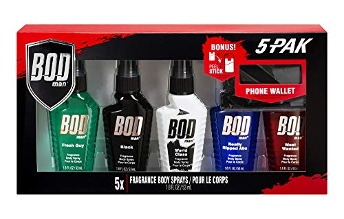 BOD man 5 Piece Men's Body Spray Gift Set (1.8 oz each) - Updated to Include Best Selling New Scent World Class - Collection of Fragrances Includes Classics and New Favorites