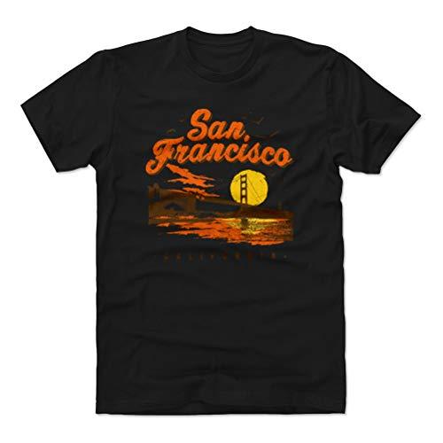 San Francisco Shirt (Cotton, Medium, Black) - San Francisco California Golden Gate WHT