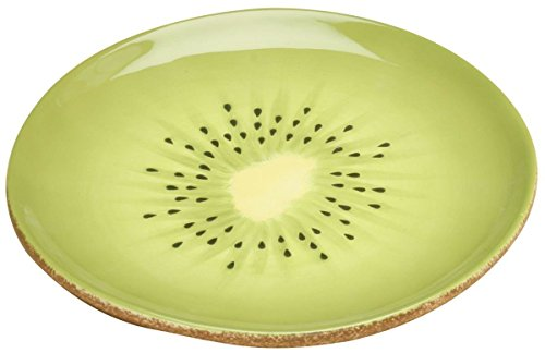 SUMMIT BY WHITE MOUNTAIN Kiwi Plate Collectible Fruit Ceramic Glass Kitchen Platter Dish