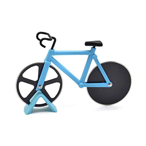 Tagliapizza in acciaio inox per bicicletta con supporto in plastica, taglierina per pizza professionale, taglierina per pizza affilata e facile da pulire
