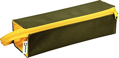 Kokuyo C2 Tray Type Pencil Case - Khaki Green Yellow by Kokuyo