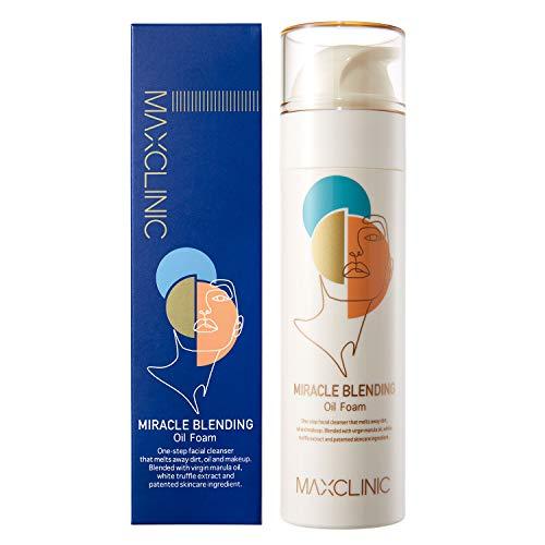 MAXCLINIC Espuma de aceite de Miracle Blending Limpiador facial aceite desmaquillante con 10 tipos de aceite natural 110g