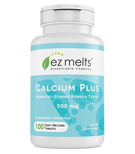EZ Melts Calcium Plus with Vegan D3 and Magnesium, 500 mg,...