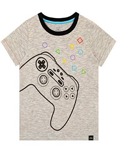 Harry Bear Jungen T-Shirt Gaming Grau 140