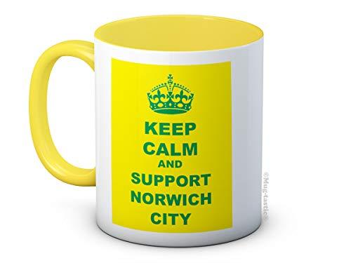 Keep Calm and Support Norwich City - High Quality Coffee Tea Mug