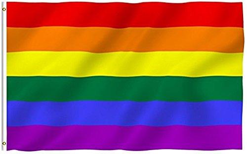Banderas de la paz arco iris del orgullo LGBT, de Sungpunet, para desfile gay y lesbiano, y decoración del hogar, 90 x 152 cm