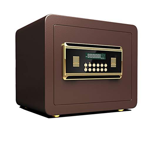 Casseforti Cassaforte digitale a muro da incasso con allarme fisso for mobili di sicurezza 35 * 30 * 30 cm Safe (Color : Red)
