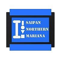 サイパン北部マリアナ デスクトップフォトフレーム画像ブラックは、芸術絵画7 x 9インチ