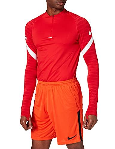 NIKE League Knit II Short NB Corto, Hombre, Naranja/Negro/Negro, Small