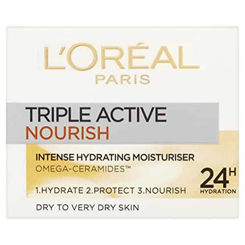L'Oreal Paris Triple Active Day 24H Nourish Moisturiser for Very Dry Skin 50 ml