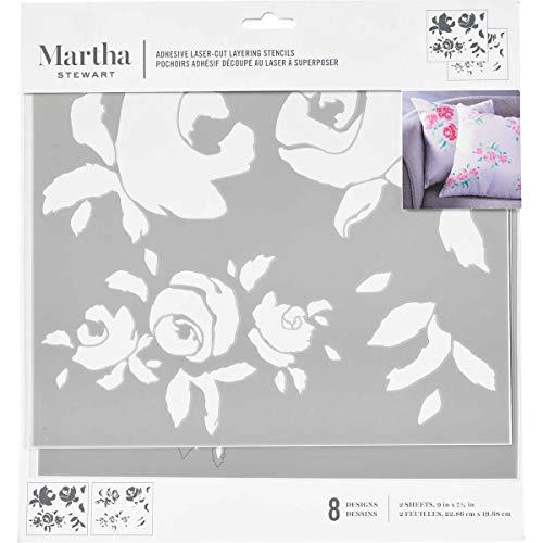 Martha Stewart 17631 Layering Stencils: Big Blooms