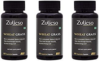 Zulicso 100% Natural and Pure Wheat Grass Extract 500mg |Rich in Antioxidant, Vitamins and Minerals