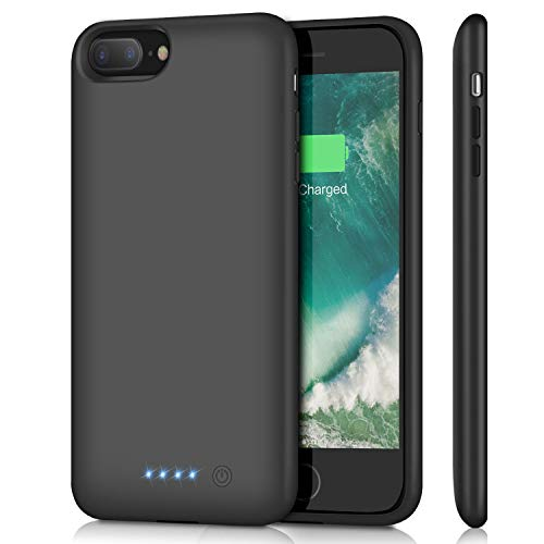 Battery Case for iPhone 8 Plus/ 7 Plus 8500mAh,Upgraded HETP Protective Rechargeable Extended Battery Pack for iPhone 7Plus Charging Case for Apple iPhone 8Plus Portable Power Bank (5.5 inch ) - Black